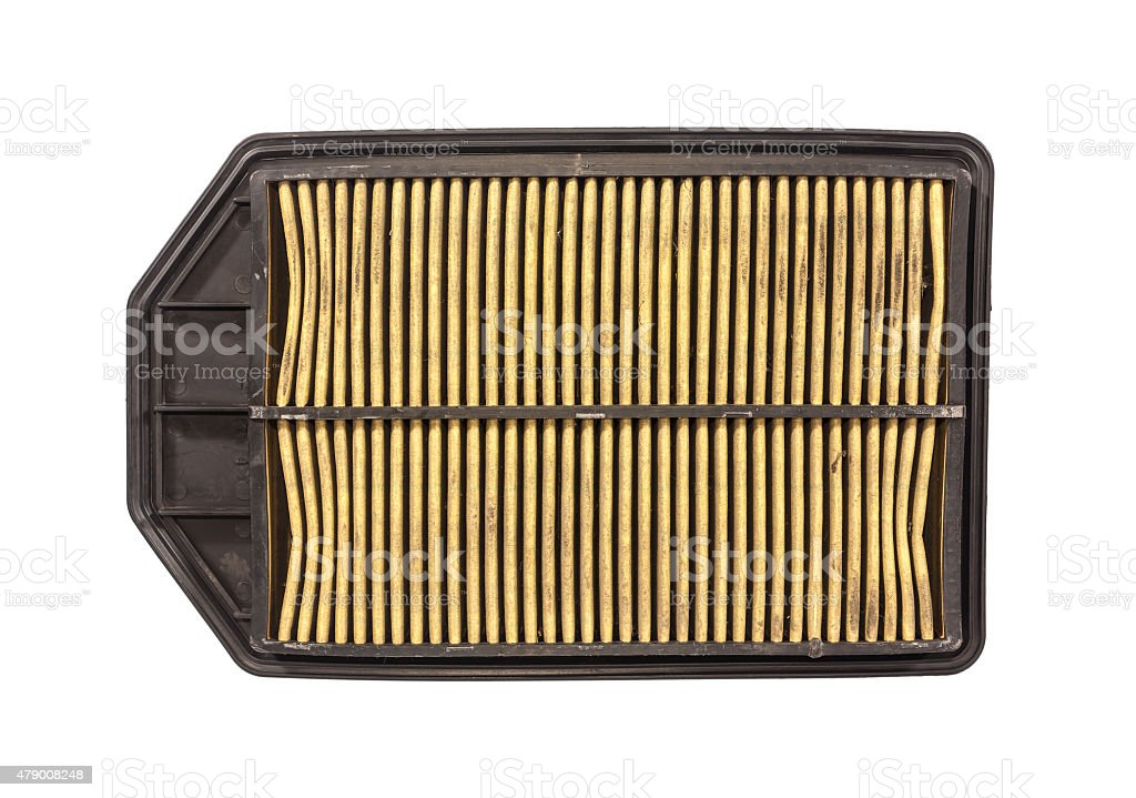 used car air filter stock photo
