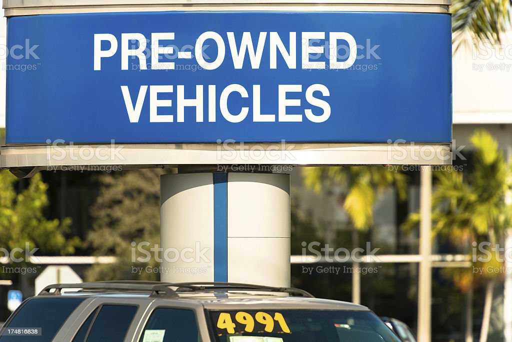 Used Car Dealership stock photo