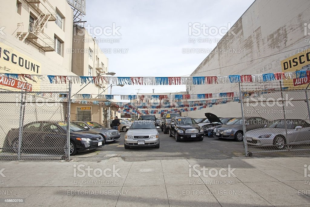 Used Car Lot stock photo
