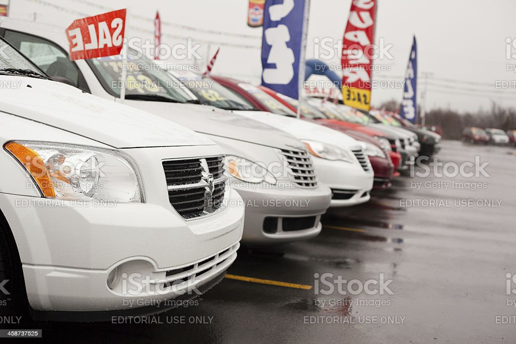 Used Car Sale royalty-free stock photo
