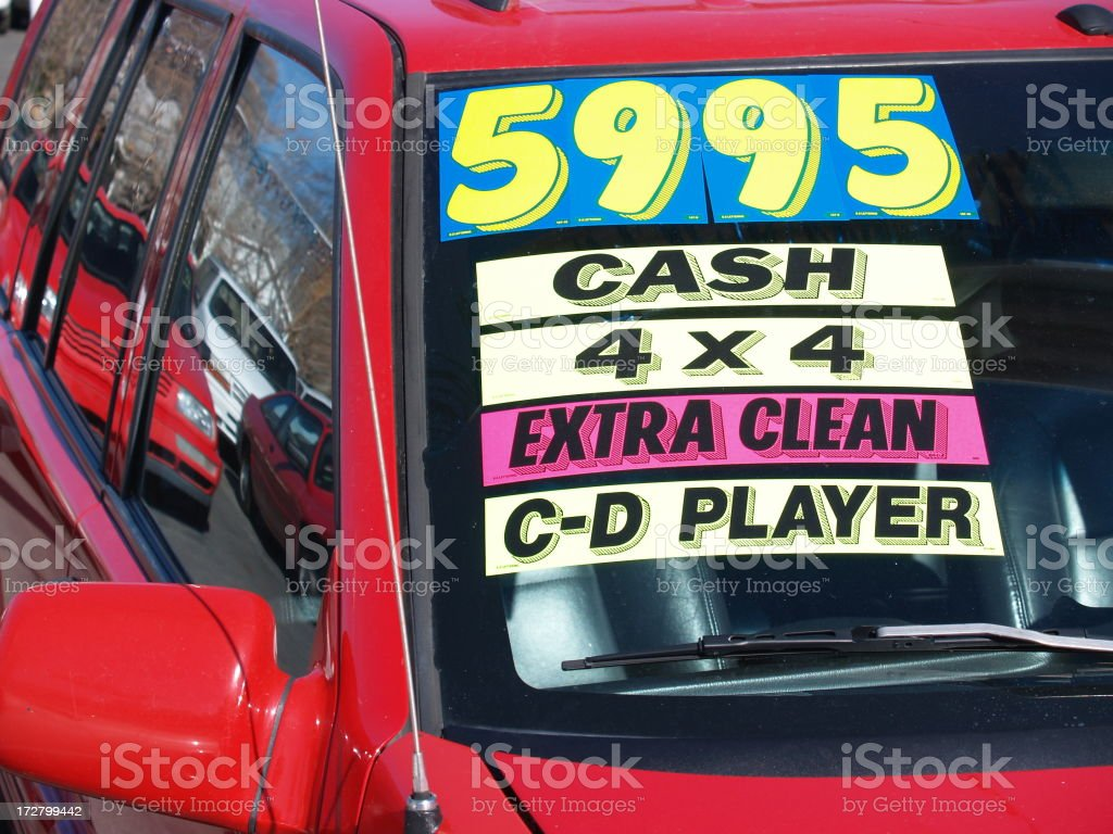 Used Car Sales Lot royalty-free stock photo