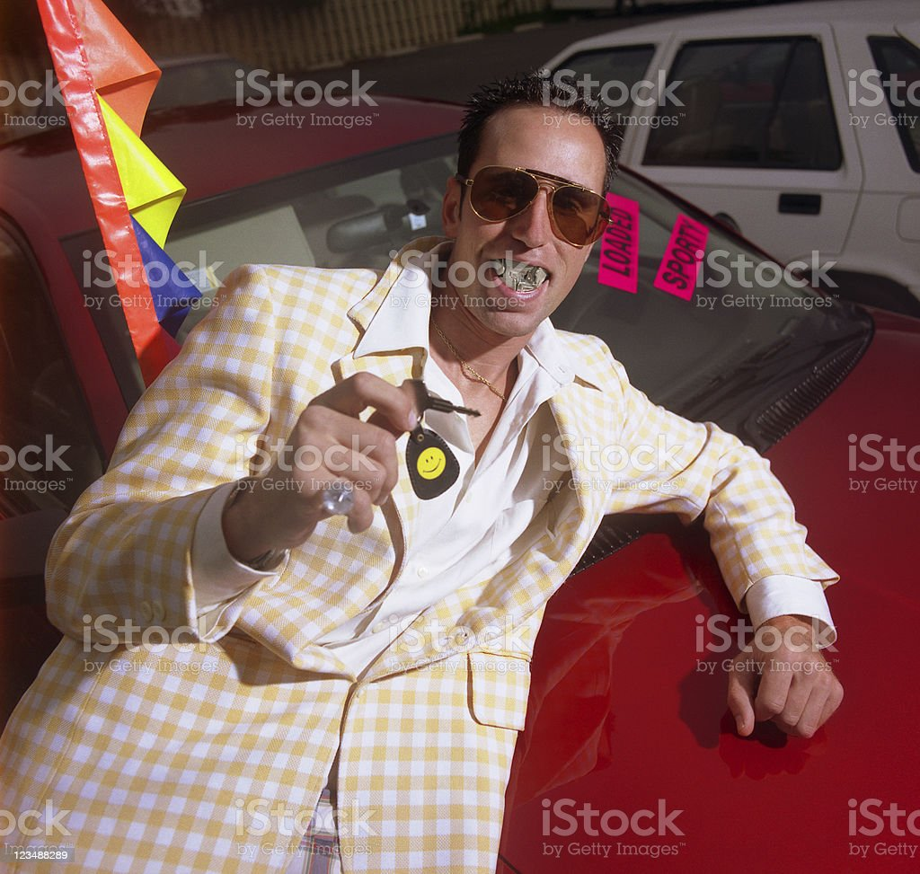 Used Car Salesman stock photo