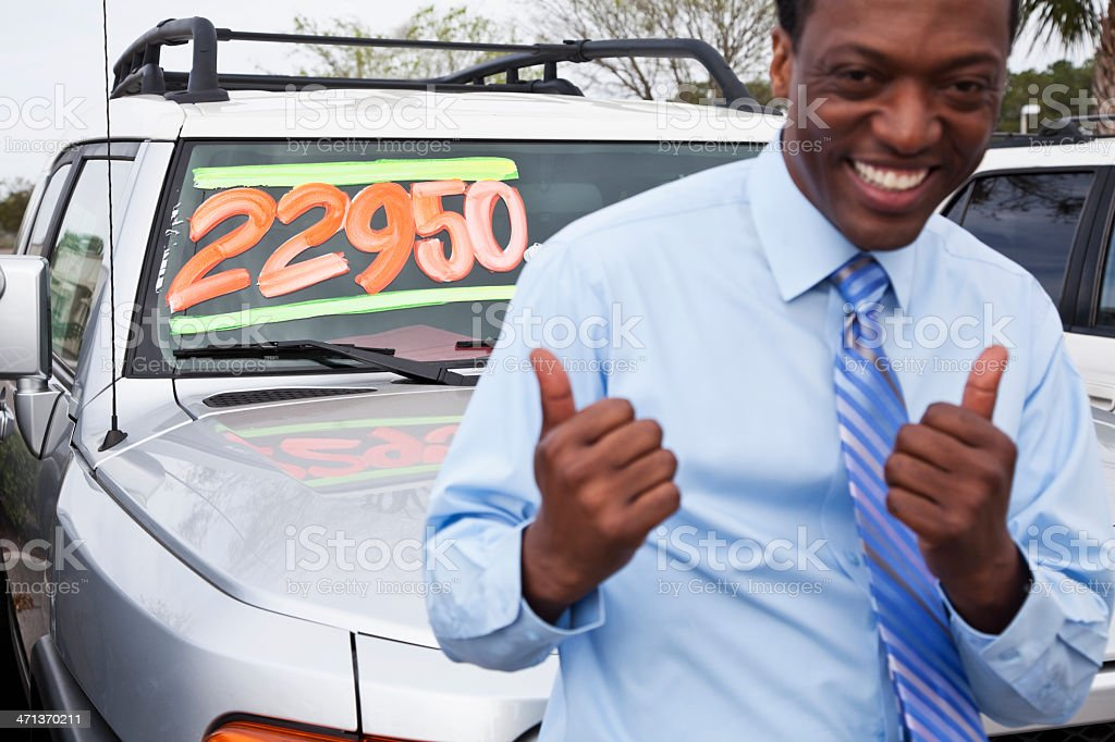 Used car salesman royalty-free stock photo