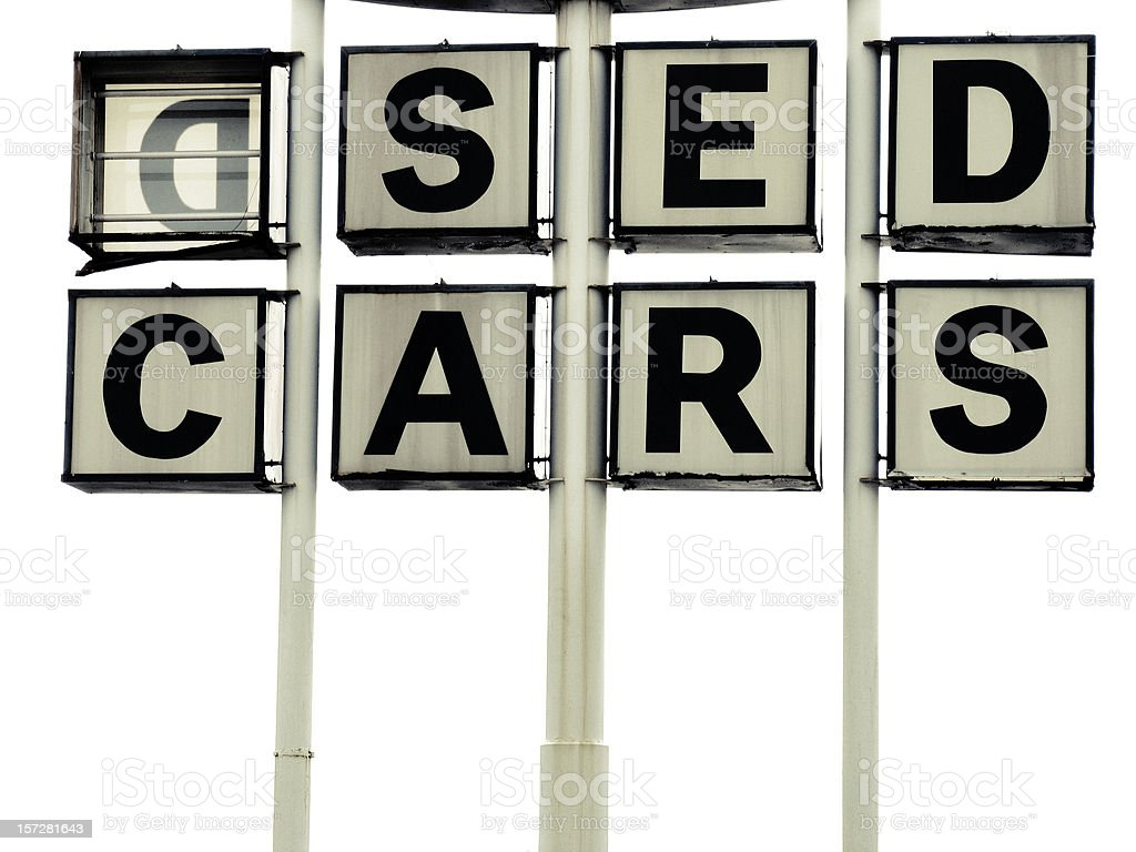 Used Car Sign Missing the U royalty-free stock photo