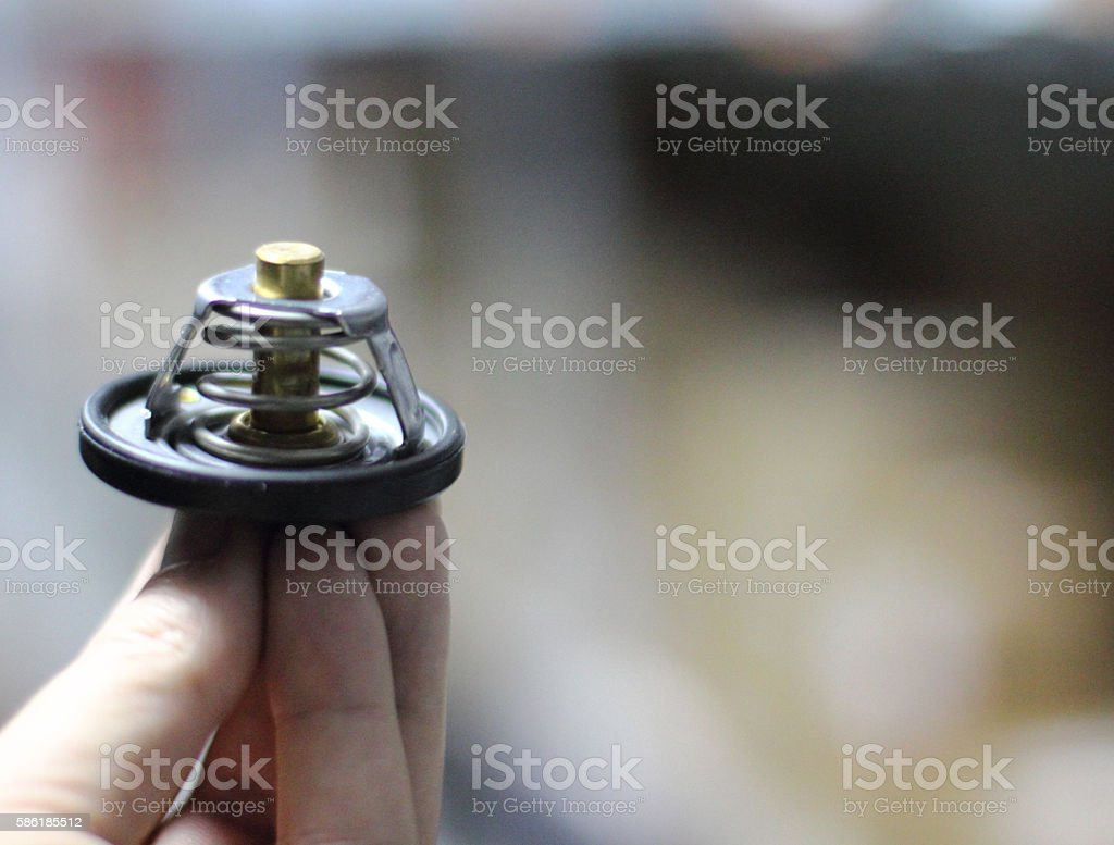 Used car thermostat stock photo