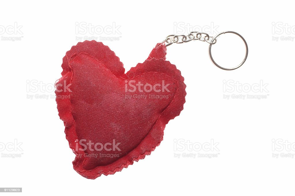 used chained heart royalty-free stock photo