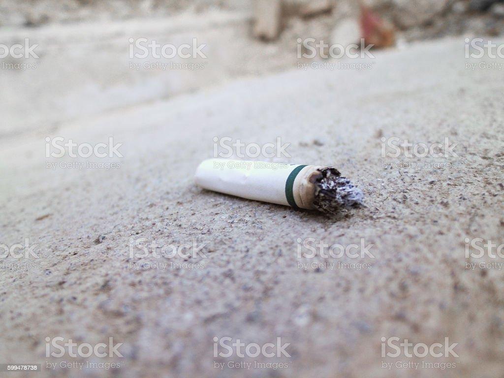 Used cigarette stock photo