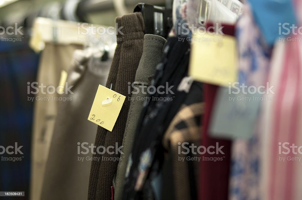 Used Clothing For Sale royalty-free stock photo
