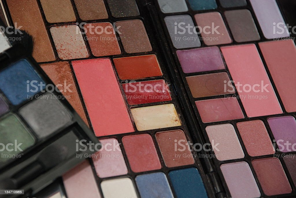 used colour pallet for makeup and grooming royalty-free stock photo