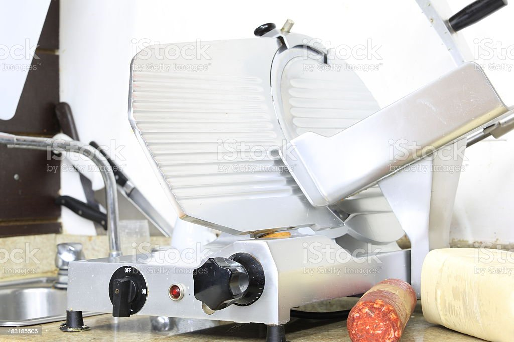 Used Commercial Slicer stock photo