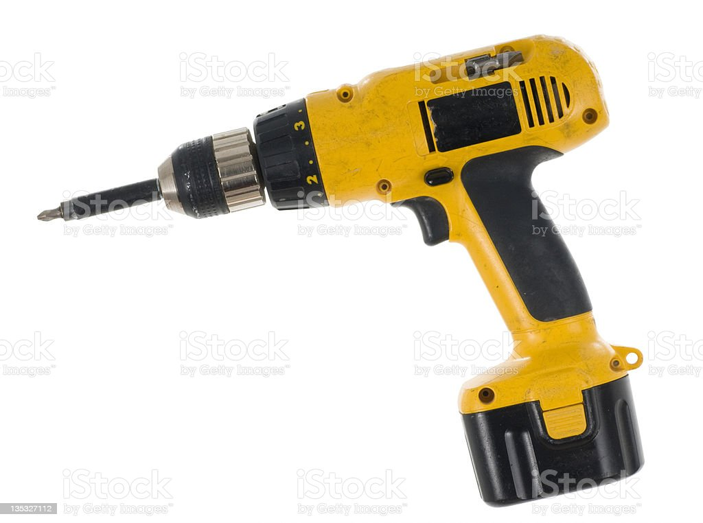 Used Cordless Drill Driver royalty-free stock photo