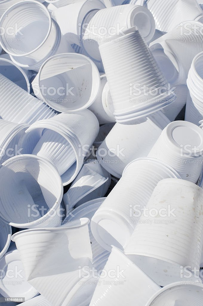 Used Disposable Cups stock photo