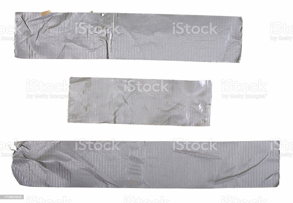 Used Duct Tape Pieces stock photo