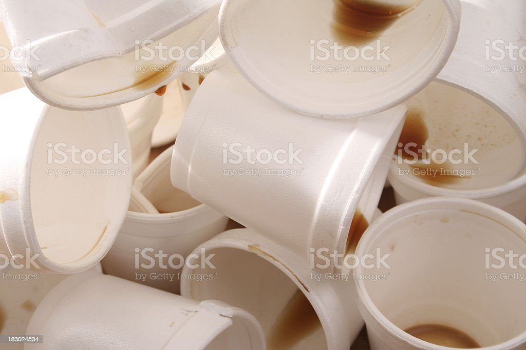 Used foam cups royalty-free stock photo