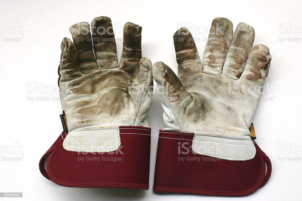 Used gardening / work gloves royalty-free stock photo
