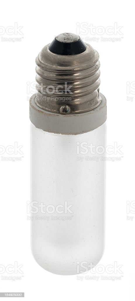 Used incandescent light bulb stock photo