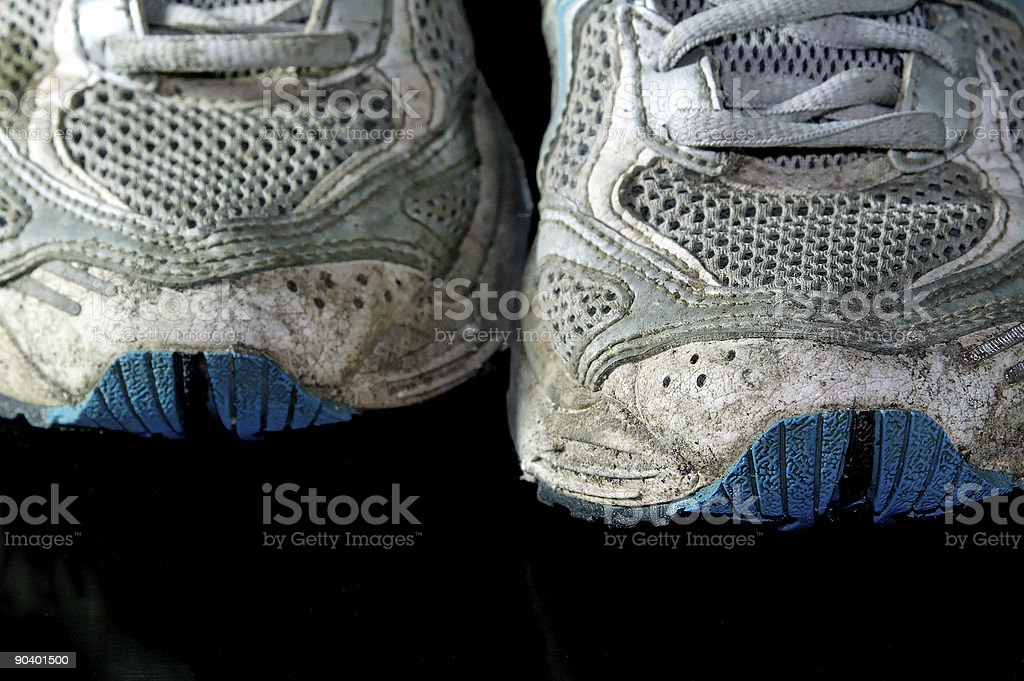 used jogging shoes royalty-free stock photo