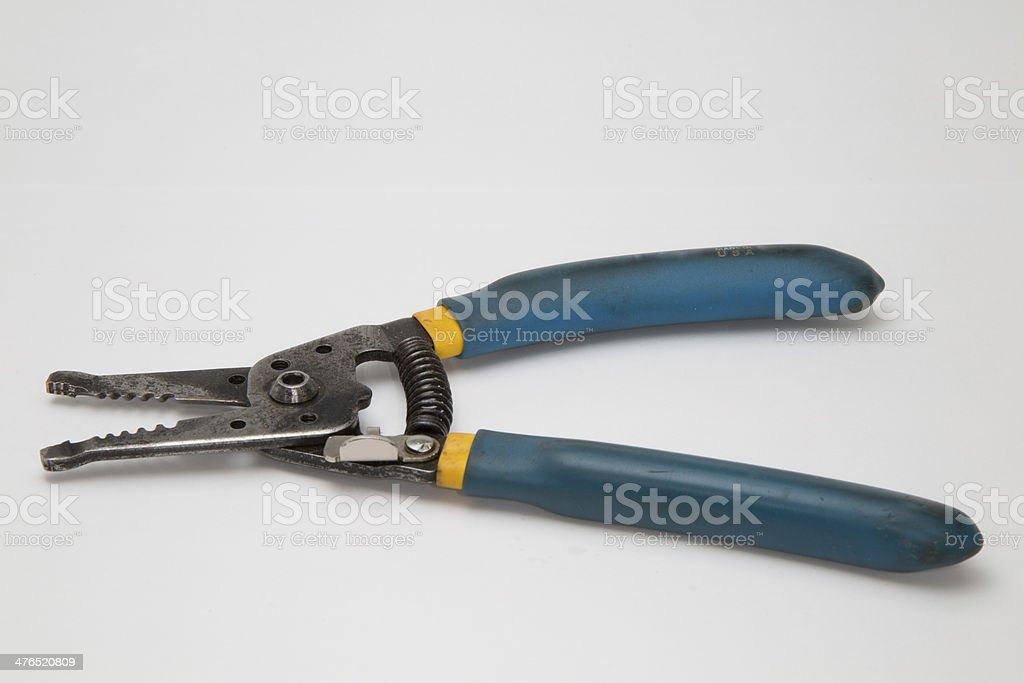 Used Klein Wire Strippers royalty-free stock photo
