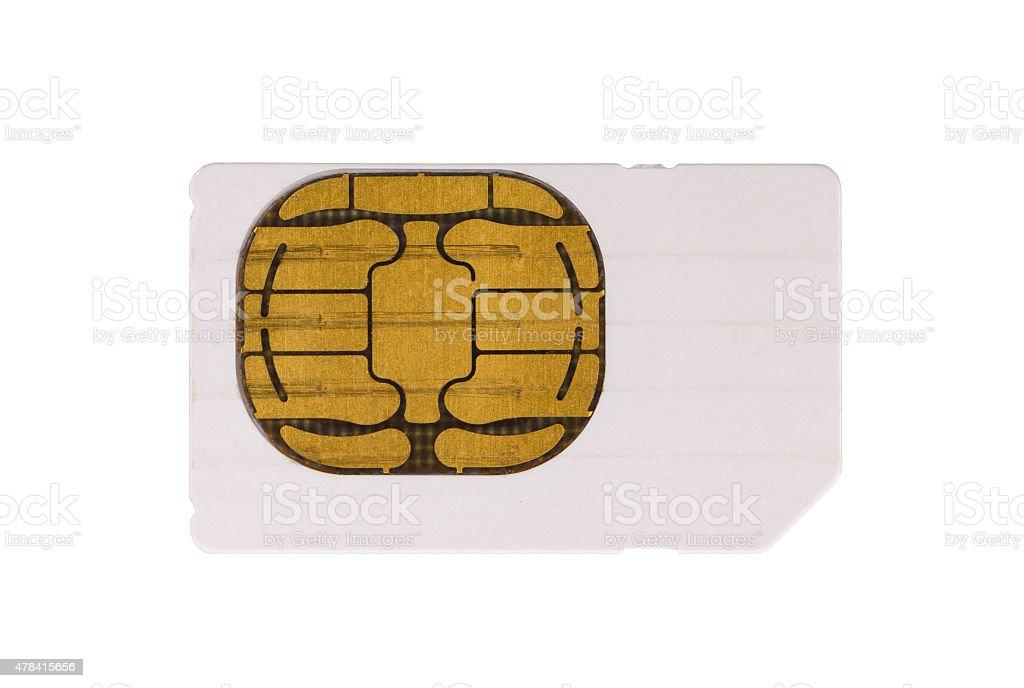 Used mobile phone sim card stock photo