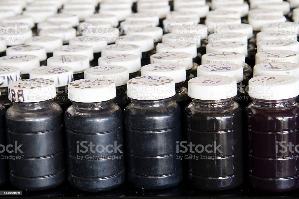 Used oil samples stock photo