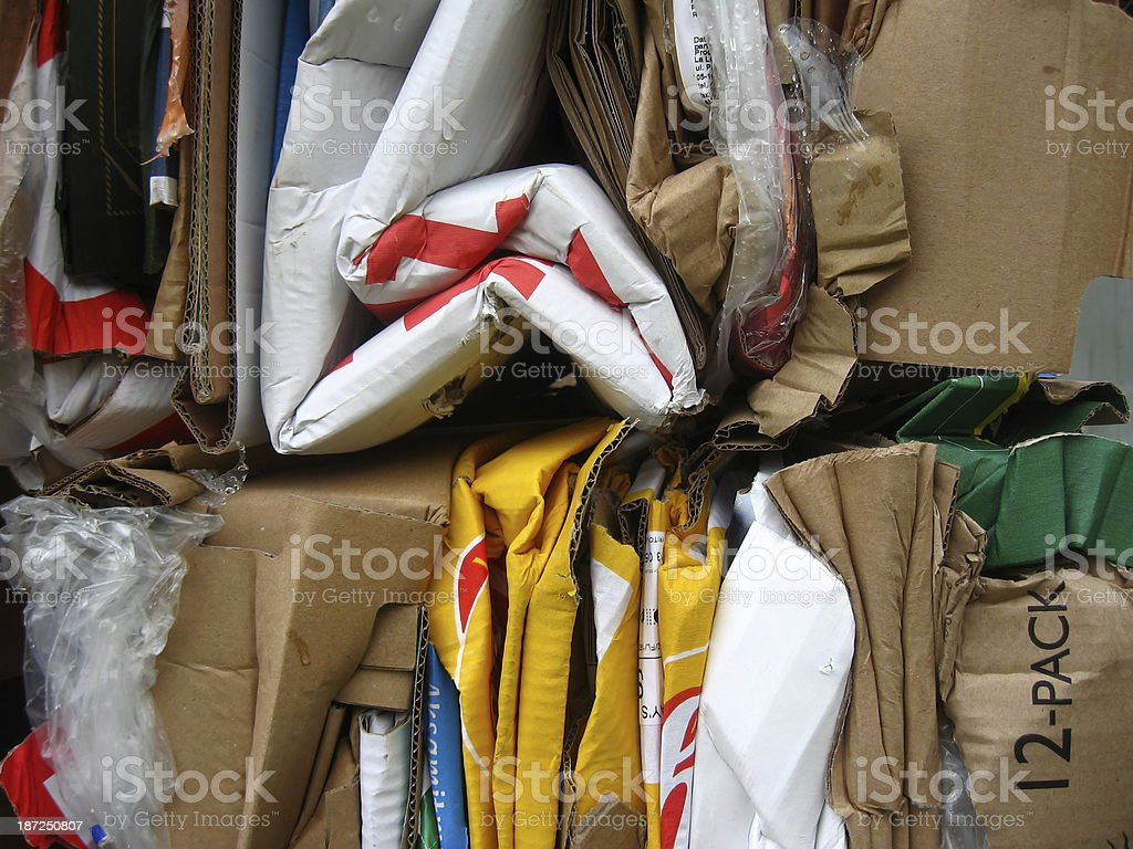 Used packaging materials royalty-free stock photo