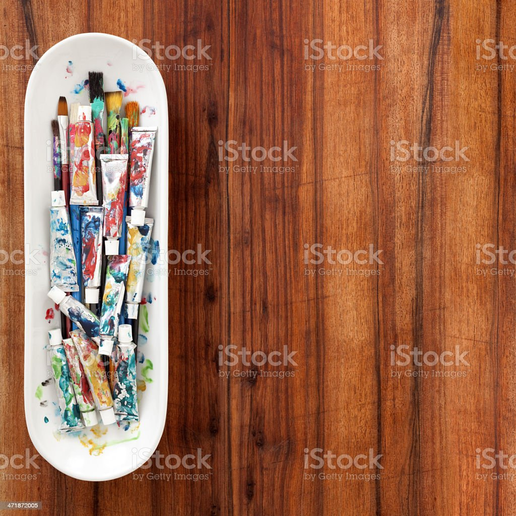 Used paint tubes royalty-free stock photo