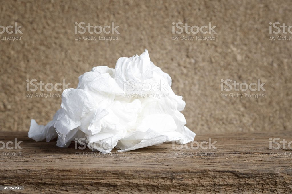 used paper tissue stock photo