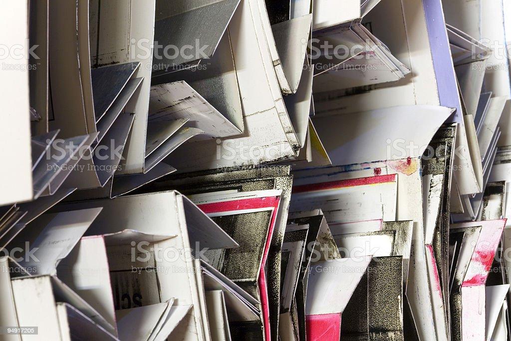 used printing plates stock photo