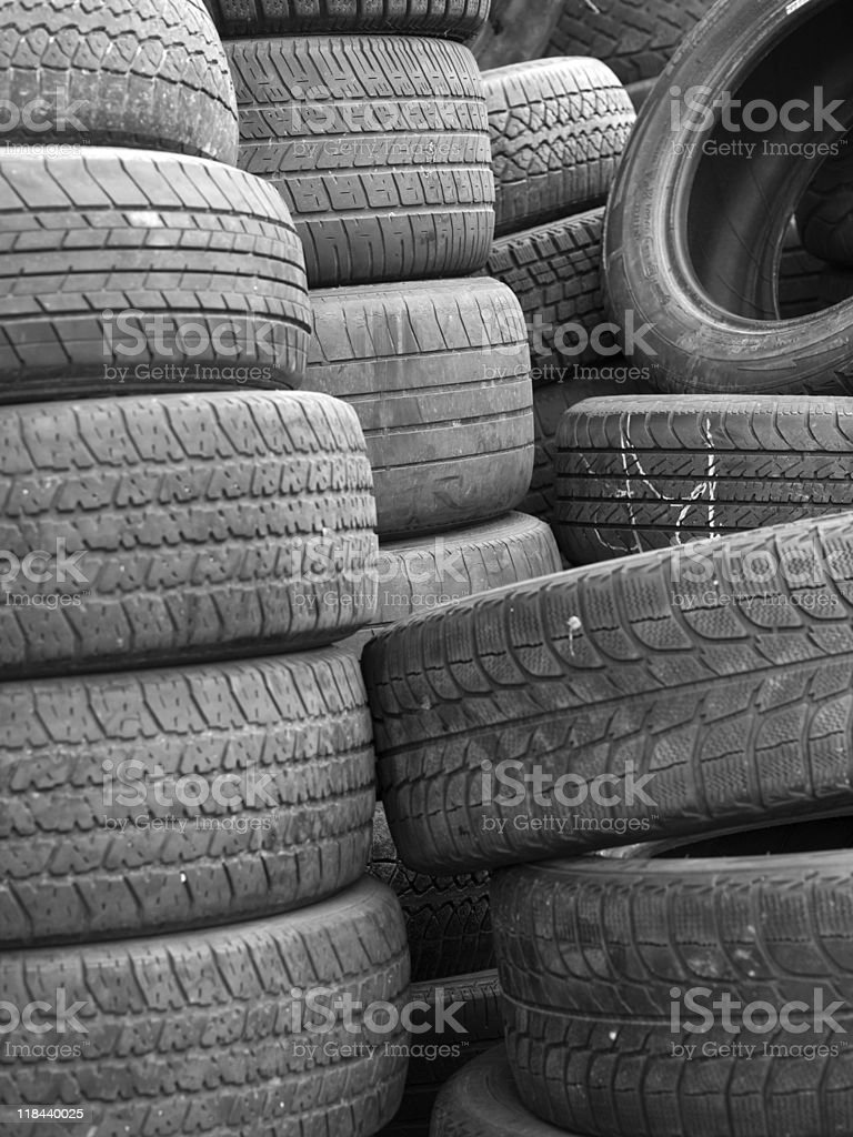 Used Rubber Tires royalty-free stock photo