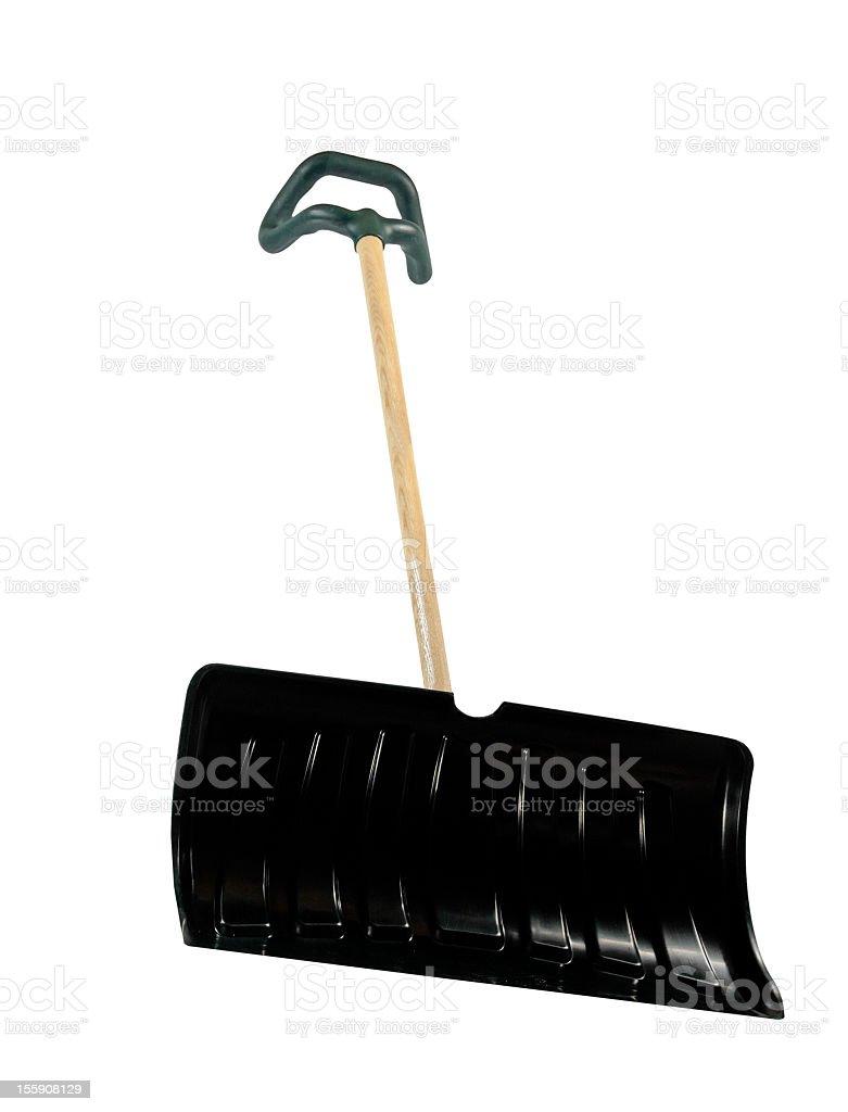 Used Snow Shovel - Pusher royalty-free stock photo