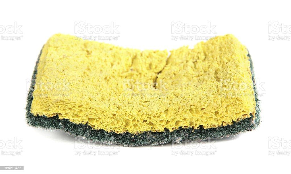Used sponge isolated on white stock photo