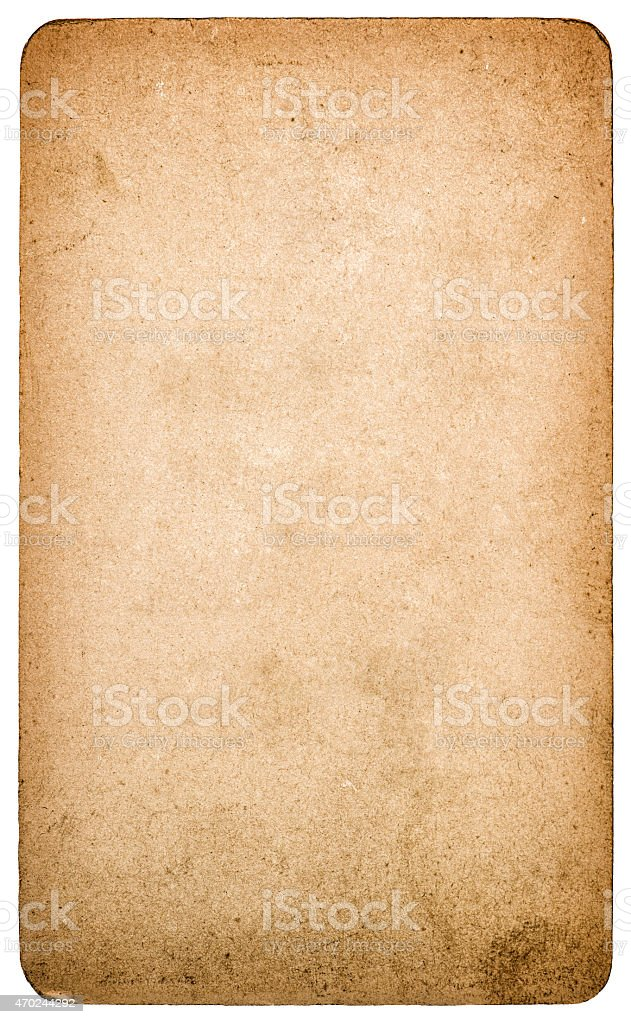 Used textured paper cardboard isolated. Scrapbook object stock photo