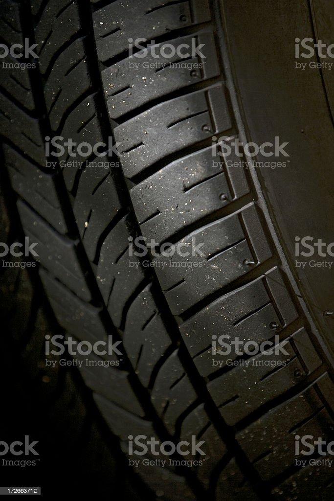 Used tire tread royalty-free stock photo