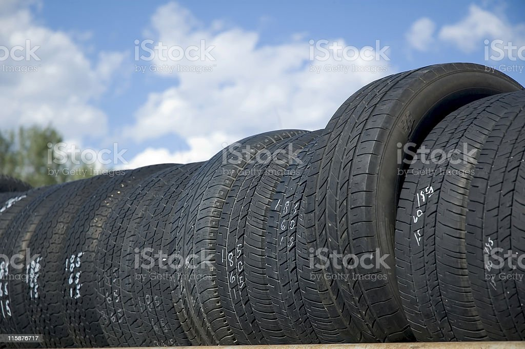 Used Tires For Sale royalty-free stock photo