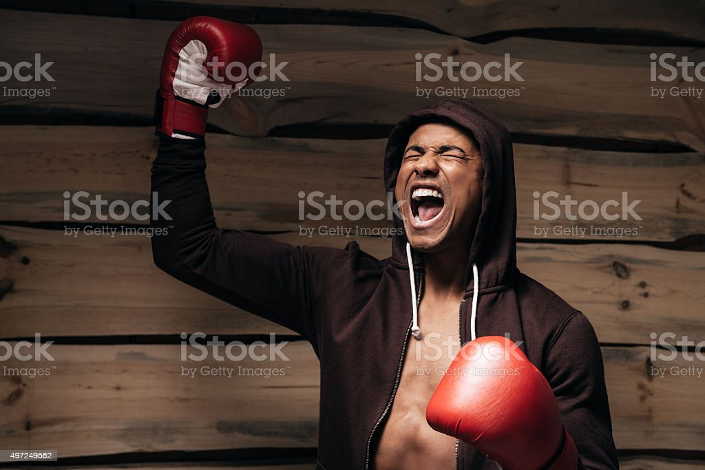 Used to win. stock photo