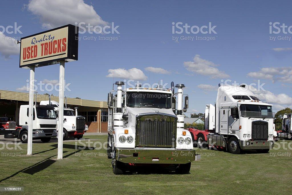 Used Trucks stock photo