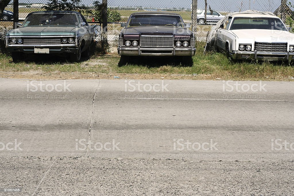 used vintage american cars angeles philippines royalty-free stock photo