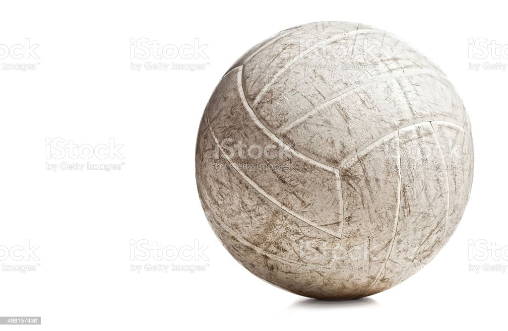 used volley ball stock photo