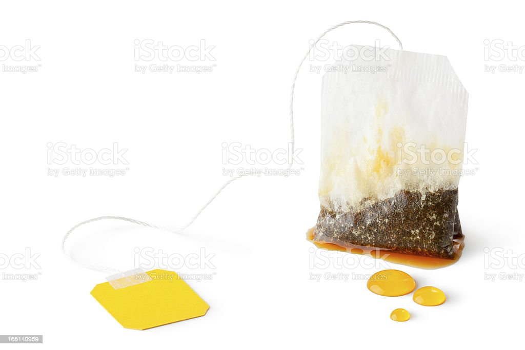 Used wet teabag royalty-free stock photo