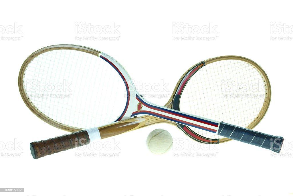 used wood rackets royalty-free stock photo