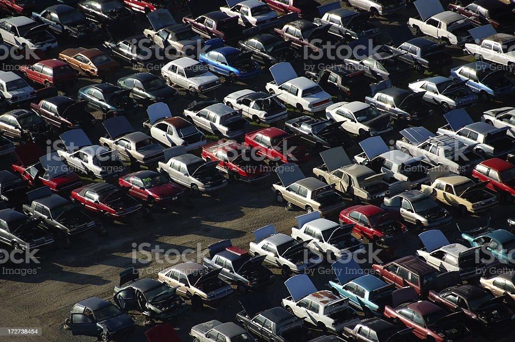 used-car junkyard royalty-free stock photo