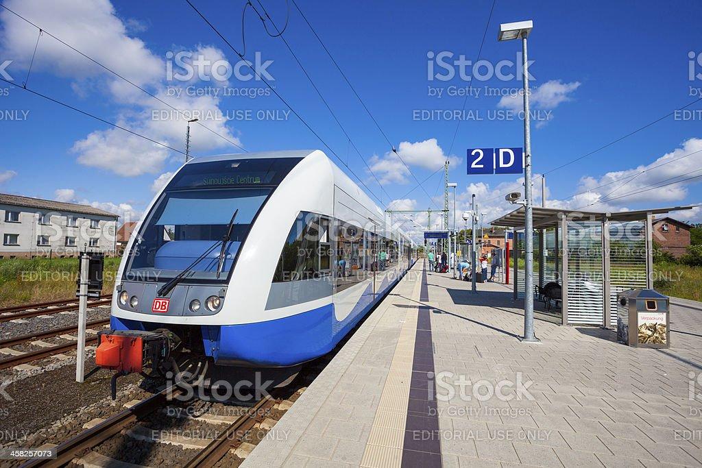 Usedomer Baderbahn train royalty-free stock photo
