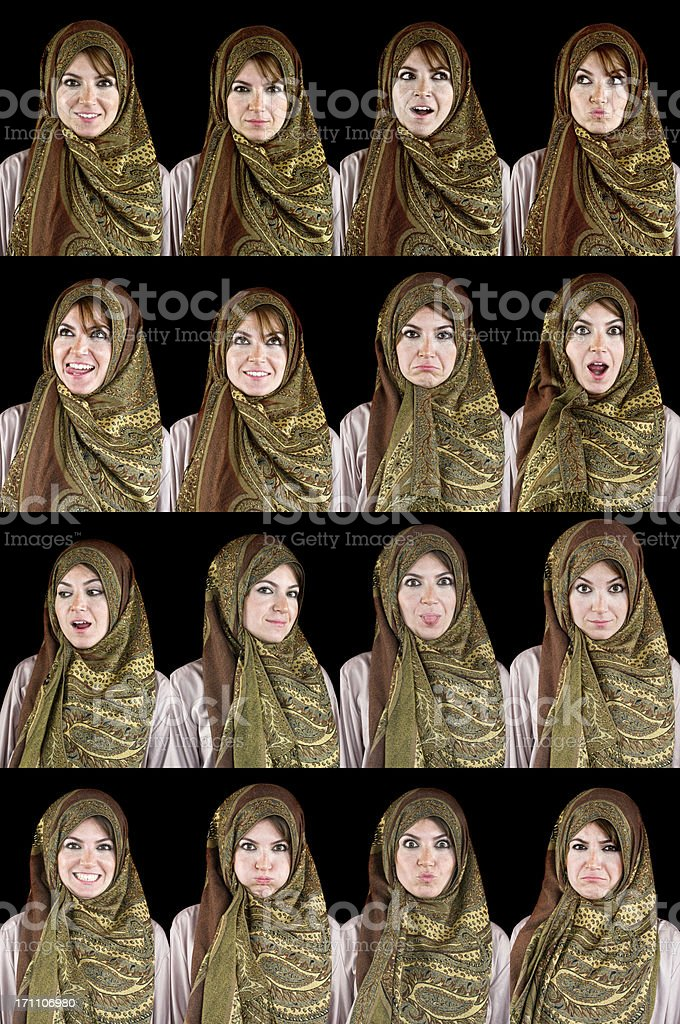 Useful facial expressions royalty-free stock photo