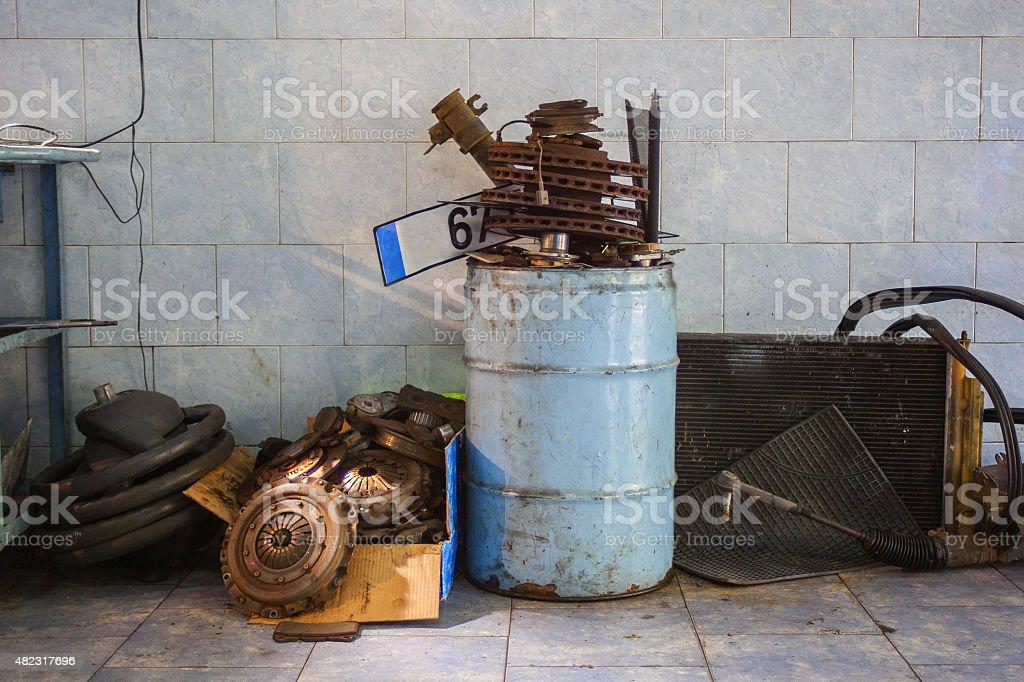 useless auto parts stock photo