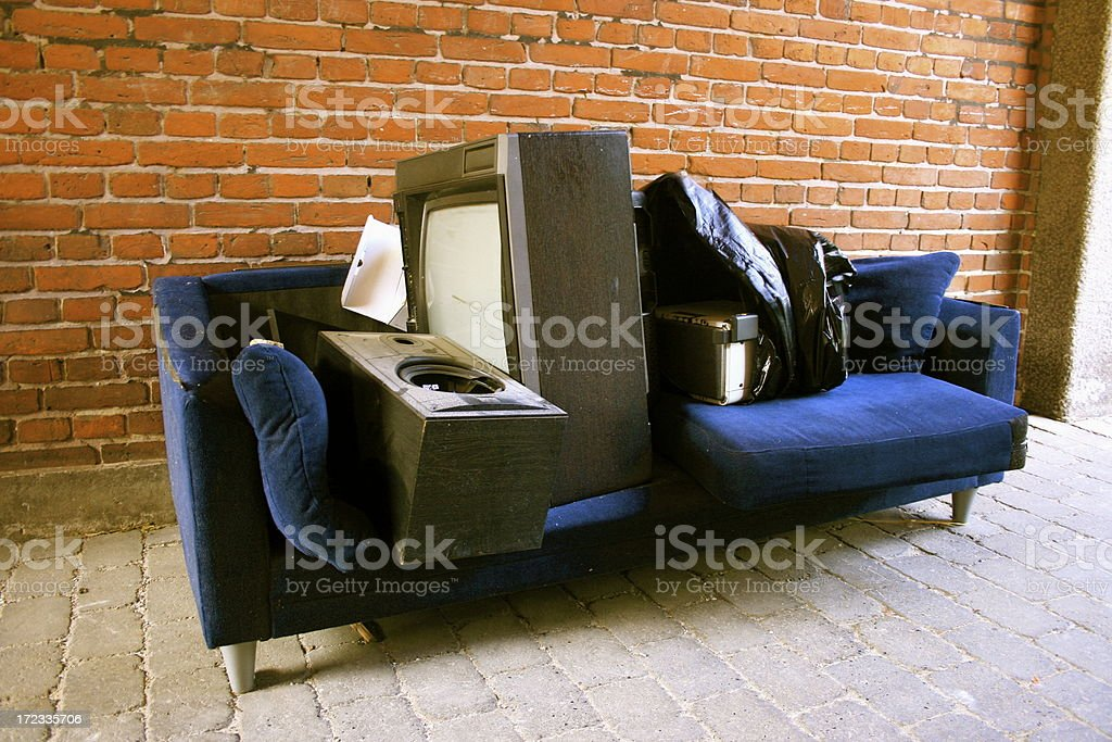 useless objects in the street royalty-free stock photo
