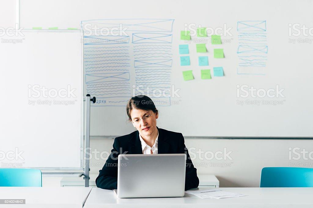 User Experience Designer stock photo