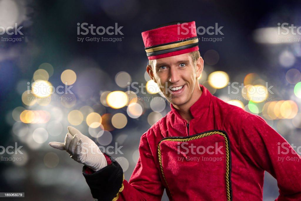 Usher in the Streets stock photo