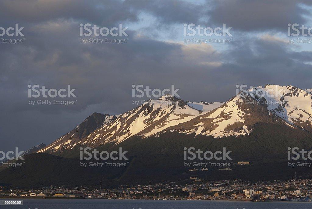 Ushuaia at Sunrise royalty-free stock photo