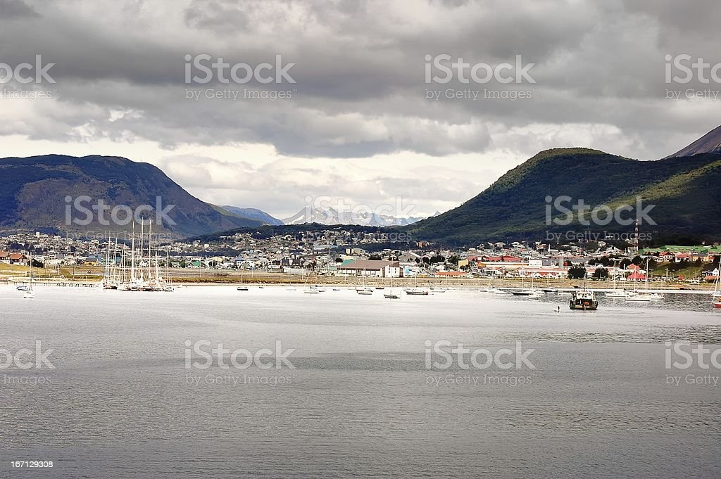 Ushuaia City View stock photo