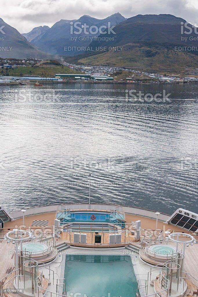Ushuaia coast stock photo